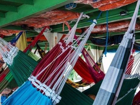 Redes para as longas viagens de barco