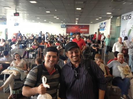 QUARTA-FEIRA. Walmir e Thomás chegaram de Palmas em Cuiabá. Depois, junto com Masaki (Rio), Genesis (Ponta Grossa) e EB (Campinas), voaram para JIP.