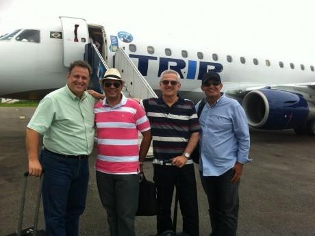 EQUIPE - Chegada a Ji-Paraná: EB, Aguinaldo, Rogério e Walmir.