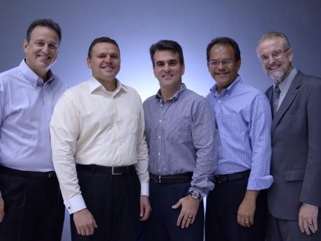 Da esquerda: EB, David, Sérgio, Uédson e Claudio.