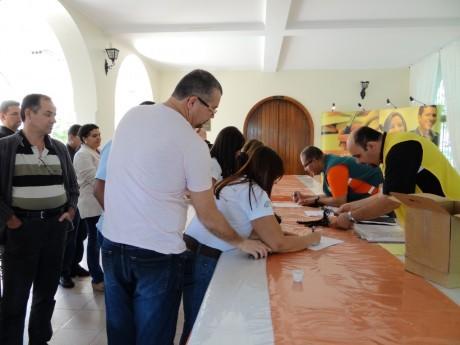 Recepção dos participantes