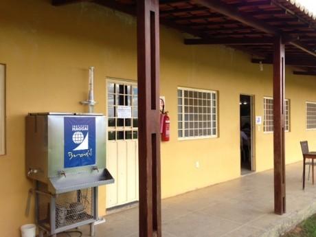 Seminário Evangélico Betânia com logotipo do Haggai no bebedouro