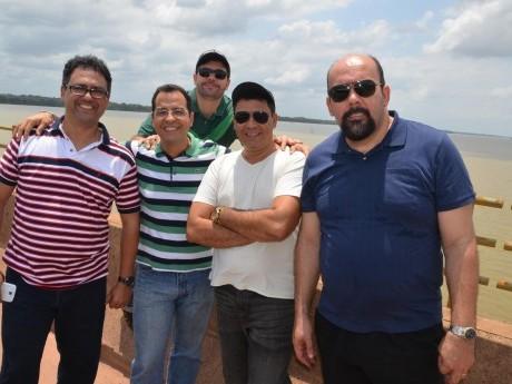 Docentes Arlênio Machado (RJ), Valmir Vasconcelos (PA), Airton Ferreira Jr. (SP), Aguinaldo Castanheira (MG) e Henrique Dutra (MG).