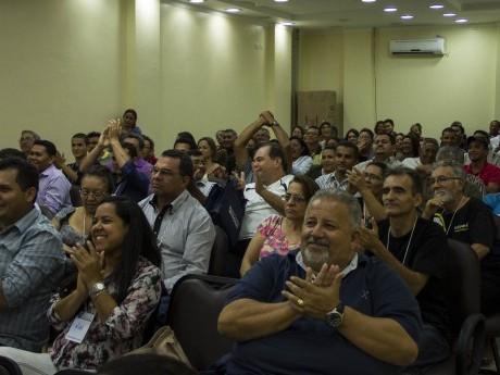 Alegria dos participantes em Macapá