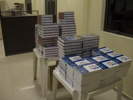 DVDs e Livros doados aos participantes