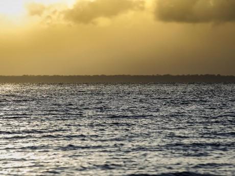 Embora a viagem seja em um rio a impressão que a equipe teve era de estar no mar.