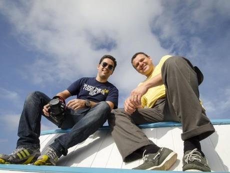 Docentes Rafael Fernandes e David Milhomem.