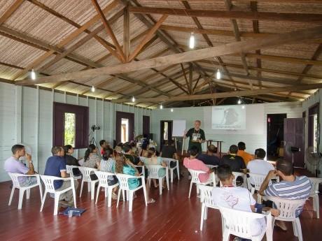 Aula na Jornada de Estudos acontecendo em Cristo Rei