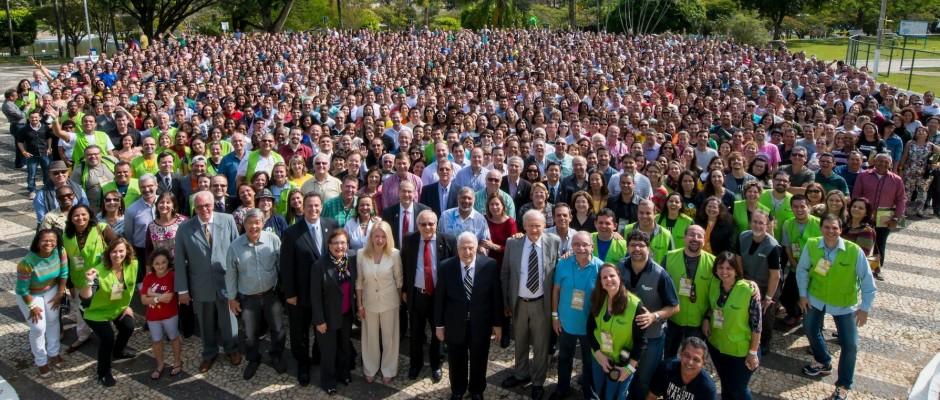 Foto Oficial do Congresso Haggai 2014 em Águas de Lindóia com seus 2.635 participantes
