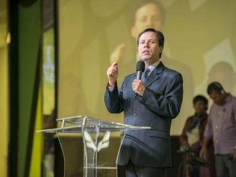 Elias Souza foi o mestre de cerimônias do salão Imperial