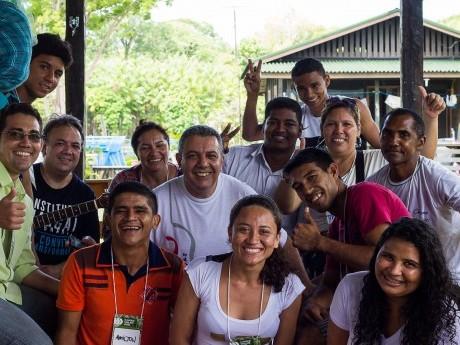 Participantes e docentes em comunhão