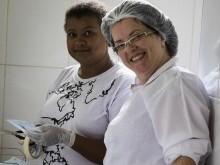 Enfermeiras dando suporte