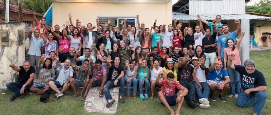 Participantes da Jornada de Estudos Haggai em Ilha Grande