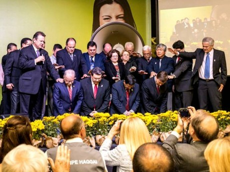 Posse da diretoria durante o Congresso do Haggai