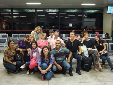 Foto de parte do grupo, partindo para o Haiti