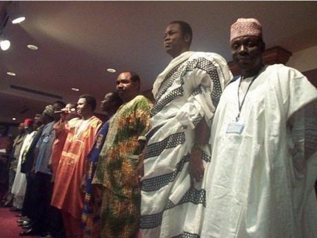 Grupo de Africanos no Seminário Internacional em Maui