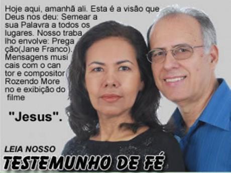 Rozendo Moreno e sua esposa Jane Franco