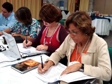 Executivos em exercício individual, com Eneide (RO) no primeiro plano