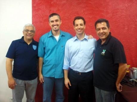 Campinas: Valmir Vasconcelos Moreira (em azul claro), secretário no Pará