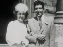 Casamento com Christine Barker no dia 3 de Agosto de 1945